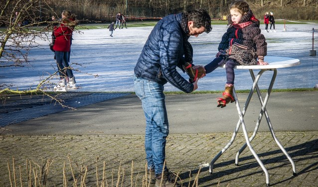 De ijsbaan vorig jaar januari.