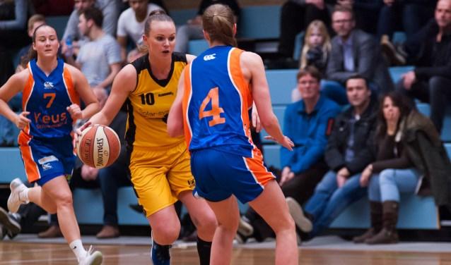 Ingrid vd Plas had een double-double in de bekerwedstrijd tegen Royal Eagles! | Foto: Geert Bekker