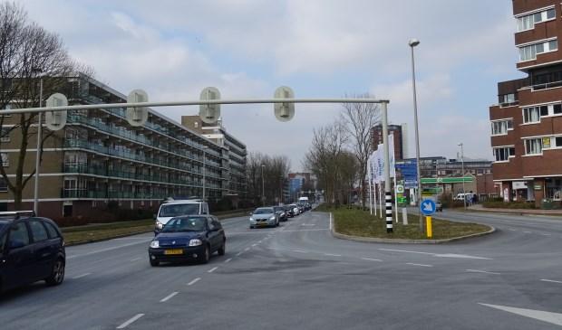 De Engelendaal ter hoogte van Winkelhof op een rustig tijdstip.
