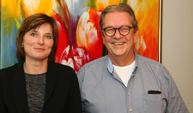 Jolanda Langeveld, beoogd wethouder voor Nieuw Lisse en lijsttrekker Rob Veldhoven.