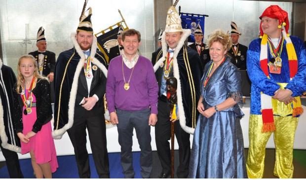 John de Bruin (paarse trui) werd zaterdag verkozen tot Supergaper.