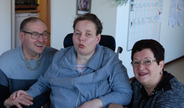 Saskia en haar ouders.