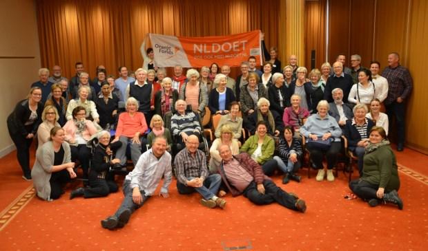 Bewoners van Bolero bezoeken samen met de vrijwilligers het Palace hotel tijdens NLdoet. | Foto: pr.