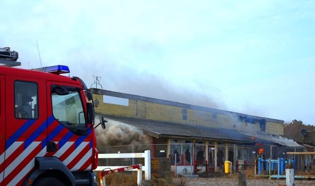 Vragen in de gemeenteraad konden niet voorkomen dat brandend asbest het duin in werd geblazen. | Foto: CV