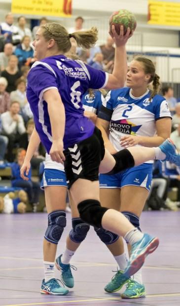 Melanie Zwaan in de aanval. | Foto: pr./Barend Koper