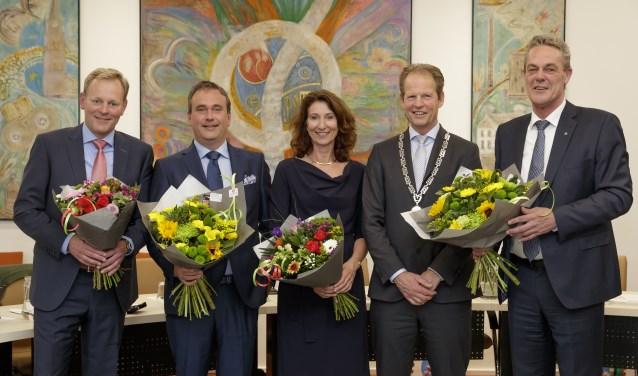 Vlnr: Fred van Trigt, Jan van Rijn, Karin Hoekstra, Arie van Erk, Anne de Jong. | Foto: Laurens Lindhout Photography