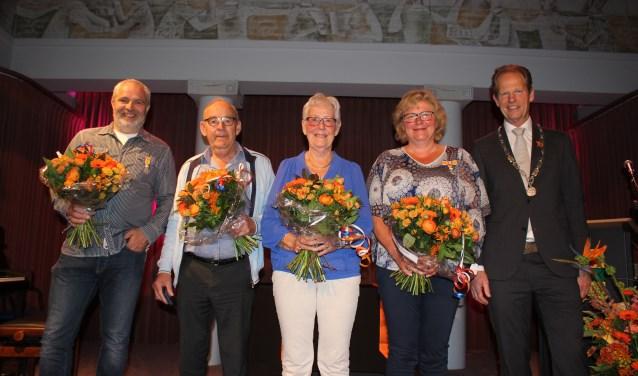 Vlnr: Piet van der Zwet, Cor en Judith de Rooij, Janine Singels en Arie van Erk. | Foto: Annemiek Cornelissen