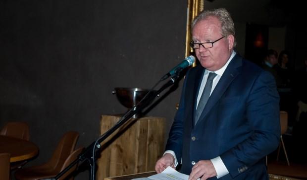 Kees van der Burg tijdens zijn nieuwjaarstoespraak.