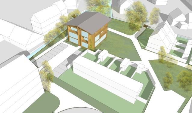 Het ontwerp voor nieuwbouw op de plek van de Woezel. | Afbeelding: Allard Architecture