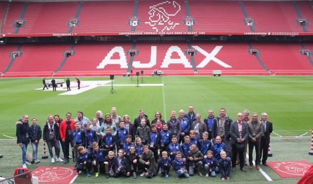 De winnaars brachten een bezoek aan de Amsterdam ArenA.