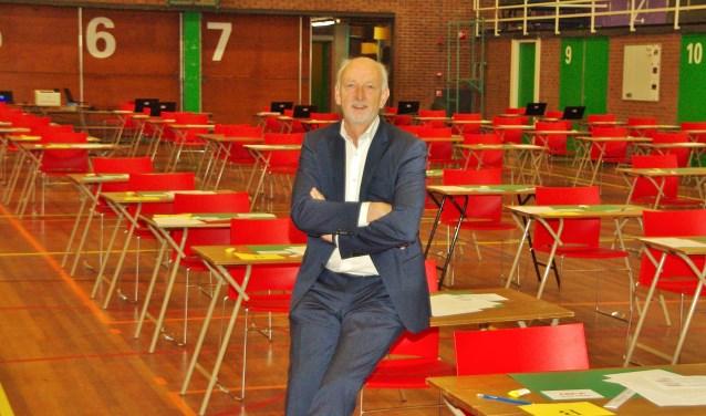 Rector John Swieringa van het Rijnlands Lyceum: 'Vertrouw op je eigen voorbereiding'. | Foto Willemien Timmers