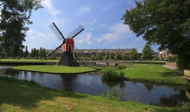 De molen in het Irispark is komende zondag te bezichtigen. | Archieffoto Wil van Elk