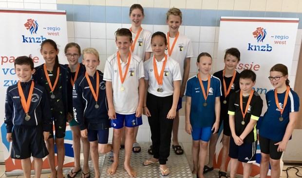 Charlene (RC), Sophie (SS), Rein (VL) en Boele (BC) wonnen de zilveren medaille. | Foto: pr.