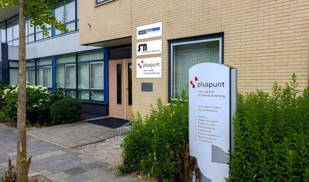 Het gebouw van Pluspunt aan de Splinterlaan in Leiderdorp.