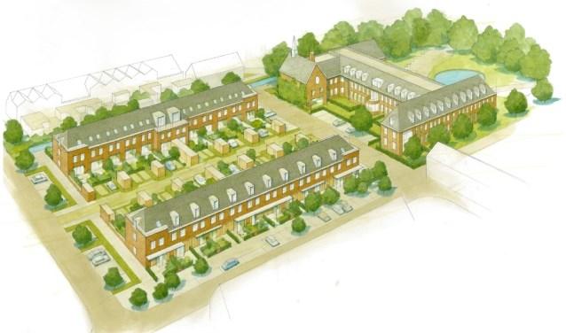 Het plan Hof van Luidina (links) is het nieuwbouwplan in het midden van het dorp. | Foto: pr.
