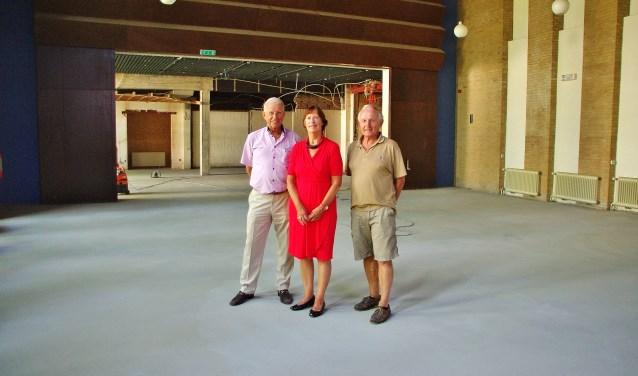 Hans Honsbeek, Ali Hellinga en Ruud Janse van Mantgem kunnen het eindresultaat al voor ogen zien. | Foto Willemien Timmers