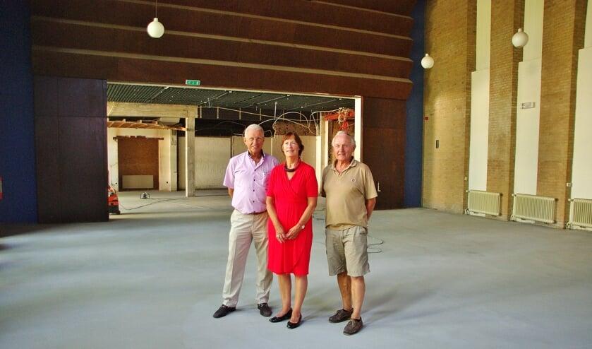 Hans Honsbeek, Ali Hellinga en Ruud Janse van Mantgem kunnen het eindresultaat al voor ogen zien.   Foto Willemien Timmers