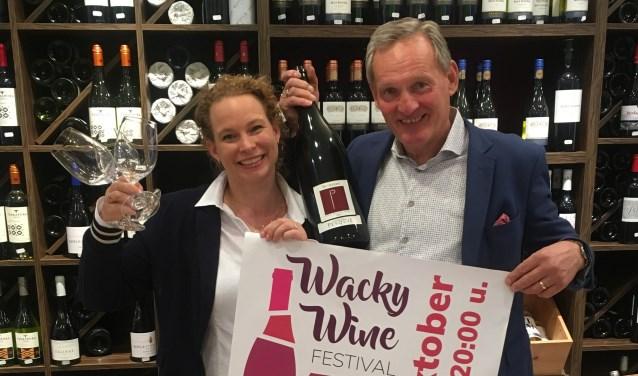 Chantal en Koos Langeveld kijken uit naar de eerste editie van het Wacky Wine Festival.