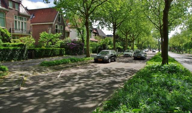 De Leidsestraatweg, tussen de Terweeweg en de verkeerslichten met de Warmonderweg wordt ook een blauwe zone. | Archieffoto Willemien Timmers
