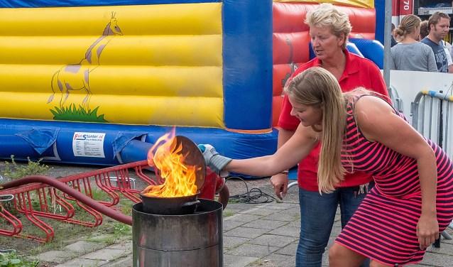 Ook dit jaar zullen er weer demonstraties 'vlam in de pan' gegeven worden.