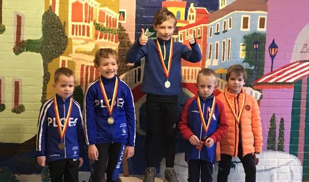 Floris Mingelen (m) wint het goud bij de Benjamins. | Foto: pr.
