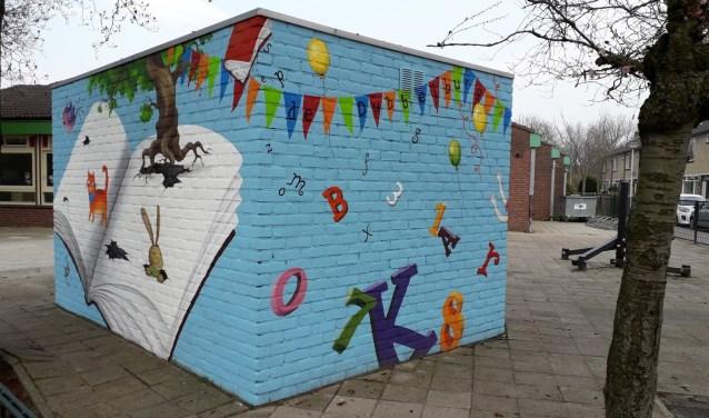 Tot 1 augustus a.s. is dit het schoolplein voor de leerlingen van De Dubbelburg locatie Rijnsburg.
