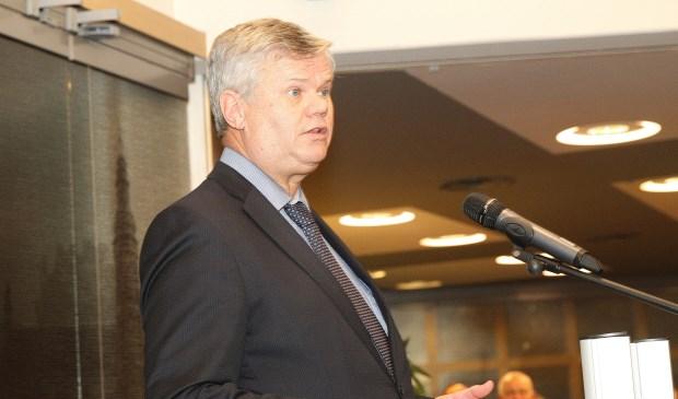Loco-burgemeester Kees van der Zwet tijdens de nieuwjaarsrede.