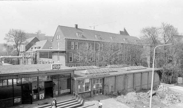 Ook dit was Leiden CS, ooit een rustig stationnetje. Foto: Niek Bavelaar.