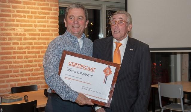 Luuk van der Zon werd benoemd tot Lid van Verdienste van de KNVB. | Foto Lichtenbeldfoto.nl