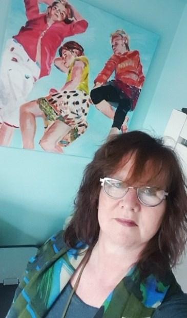 Carla exposeert haar werk voor het eerst, bij huisartsenpraktijk Oranje-Nassau.