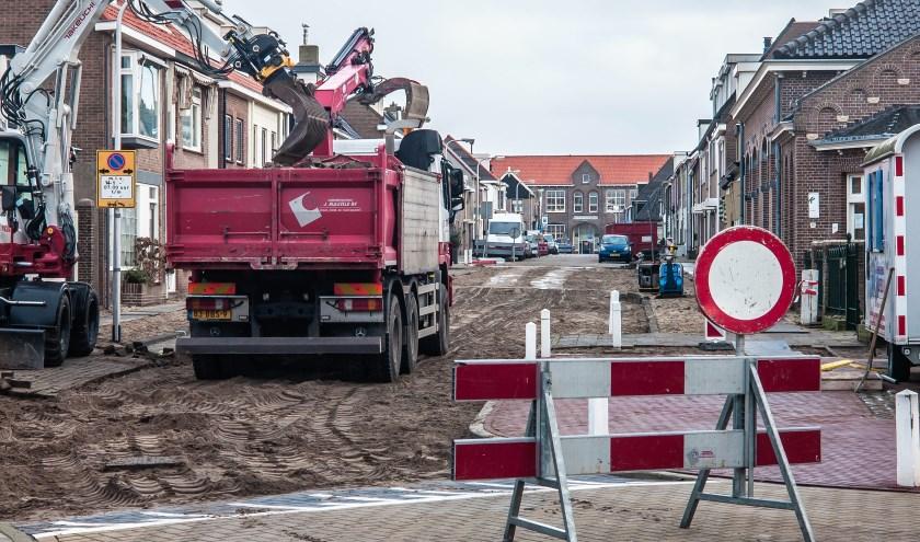 De werkzaamheden in de Paul Krugerstraat in wijk De Noord.