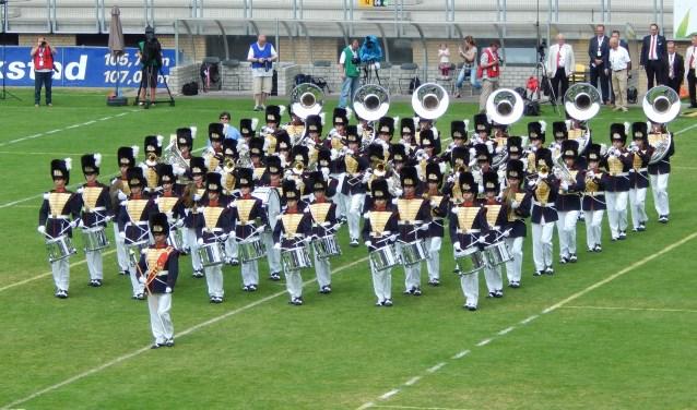 Adest Musica in marsformatie tijdens het laatste WMC in 2013. | Foto: pr.