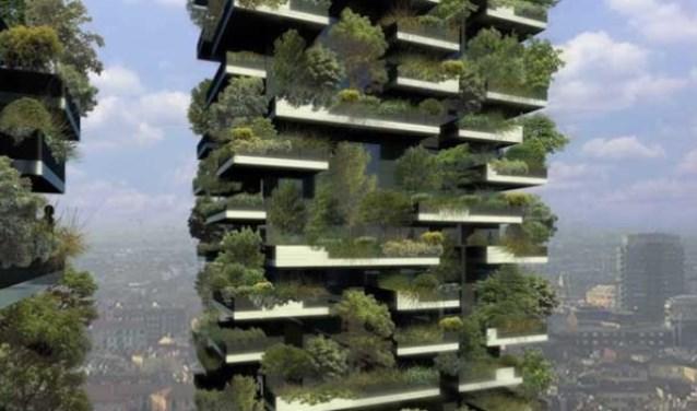 Een verticaal bos in Milaan, straks ook in Leiden?
