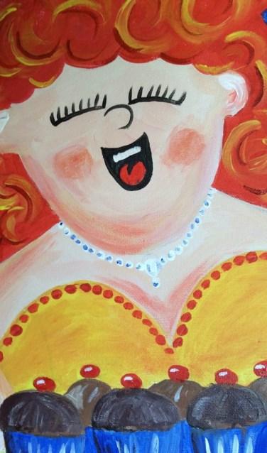 Dikke Dames, geschilderd door Marlies Vermond.