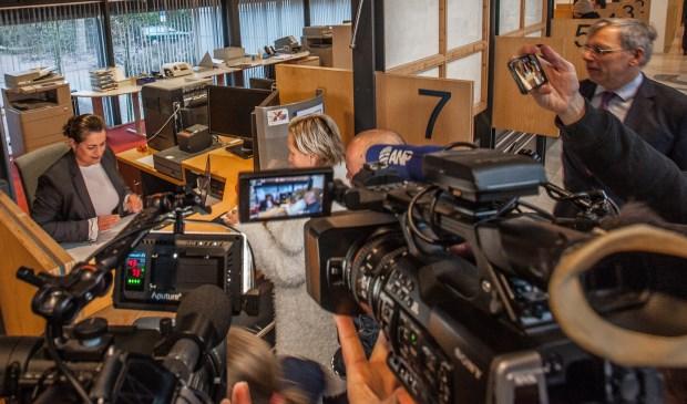Veel mediabelangstelling voor Natasja Geyteman-Bos.