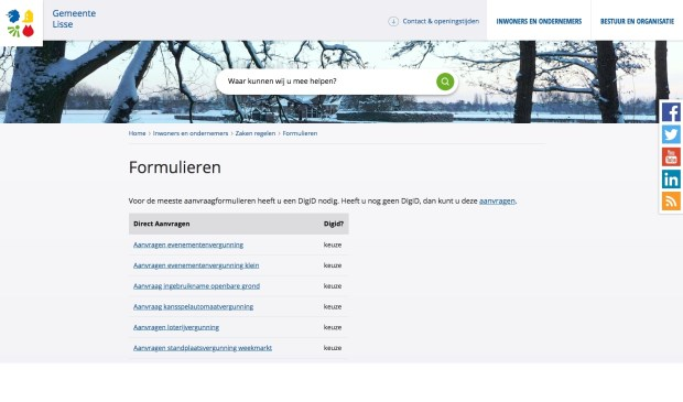 Via de website van de gemeente zijn steeds meer producten online bestelbaar, zoals een uittreksel burgerlijke stand.