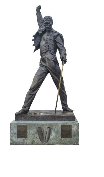 In Montreux staat dit standbeeld van Freddie Mercury.