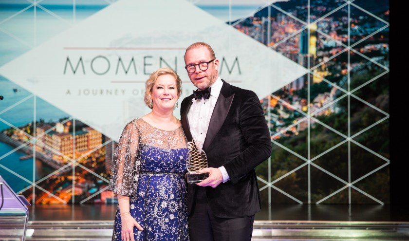 Stephan Stokkermans ontving in Monaco de Hotelier of the Year 2019-award. | Foto: PR