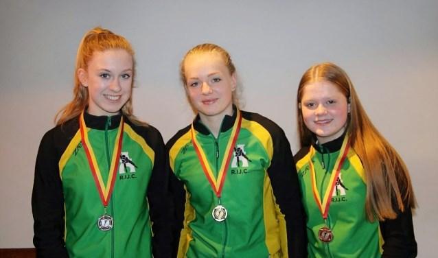 Anna de Rover, Anna van de Bosch en Amy van Delft behaalden goud, zilver en brons.