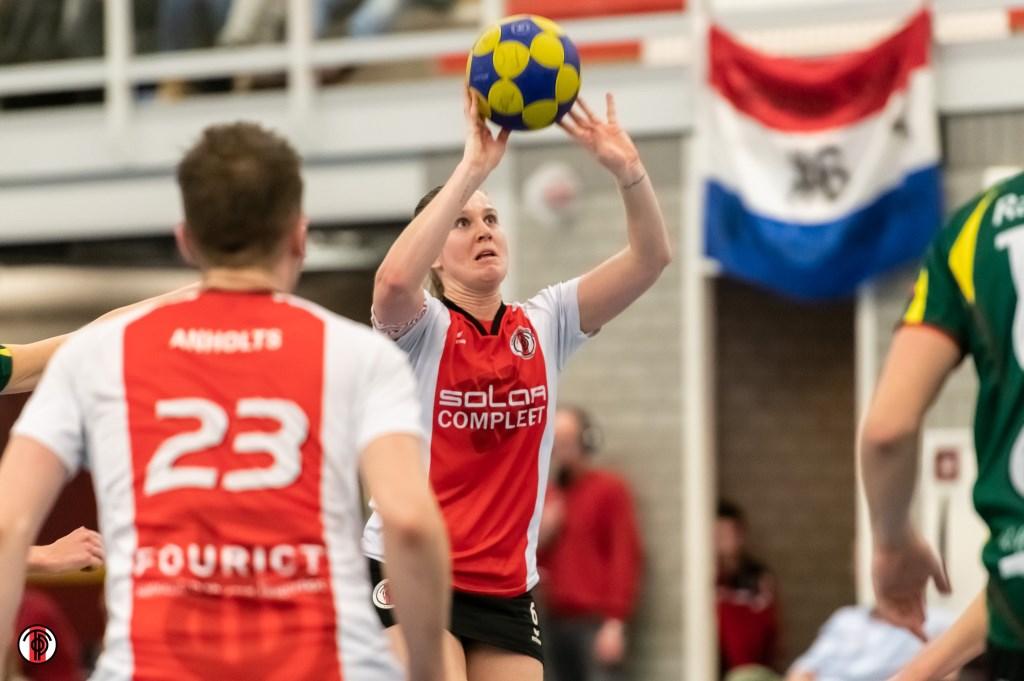 Celeste Split sluit de wedstrijd als 'Player of the Match'.
