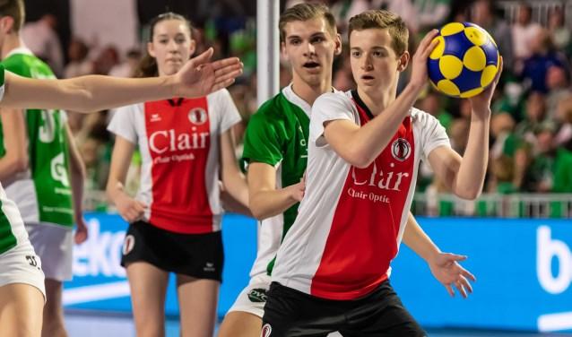 Stan Olsthoorn valt goed in tijdens de finale. | Foto René van Dam