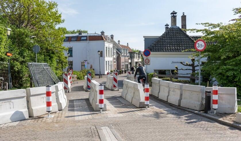 De Duikerbrug open voor voetgangers en fietsers.