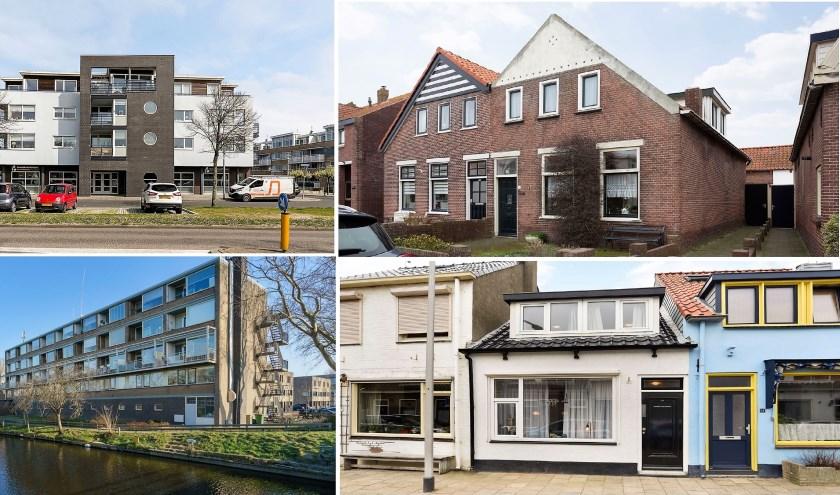 Deze woningen stonden afgelopen gisteren nog te koop. | Compilatie: pr