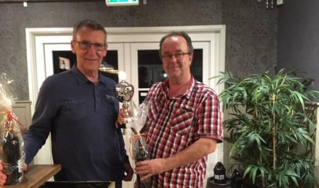 Willem Bakker en Theo Kool blijken opnieuw het sterkste paar tijdens de maandagavondbridge. | Foto: pr.