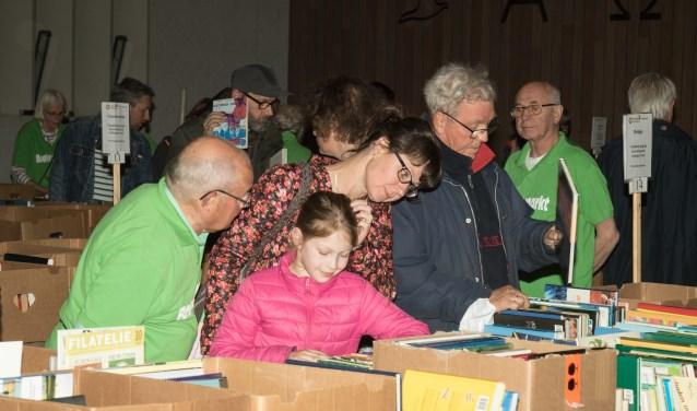 Bezoekers van alle leeftijden waren vrijdag en zaterdag op zoek naar leesvoer.