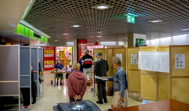 Het stembureau in Winkelhof op donderdag 23 mei.