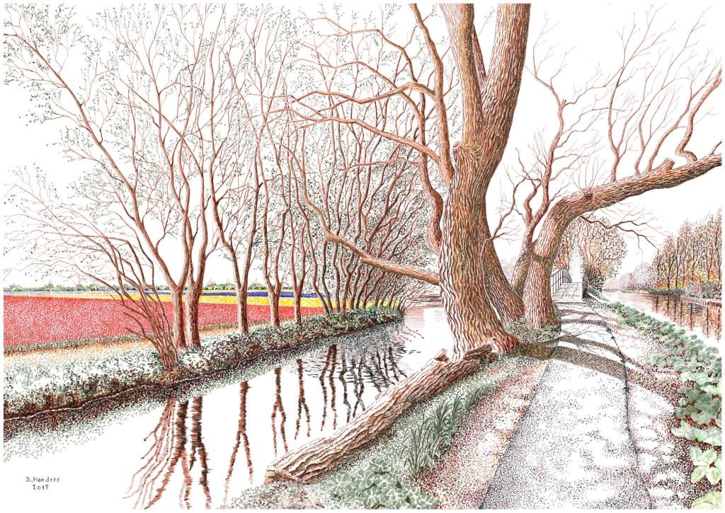 De Hillegommerbeek door Dirk Honders. Foto: pr © uitgeverij Verhagen