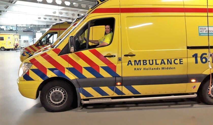 De ambulances van RAV Hollands Midden. | Foto: SKvD