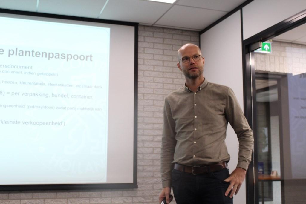 Hayo Andreae nam de presentatie voor zijn rekening. Foto: walter landesbergen © Verhagen