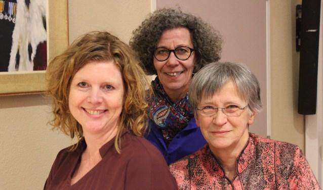Marlies Volten (midden), samen met Elsbeth Koek (PvdA) en Rose Marie Keijzer (D66) bij hun afscheid van de raad in 2018. | Foto: archief/Nico Kuyt